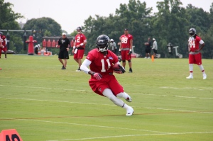 Julio Jones during training camp in 2013.  Photo courtesy of Thomson20192